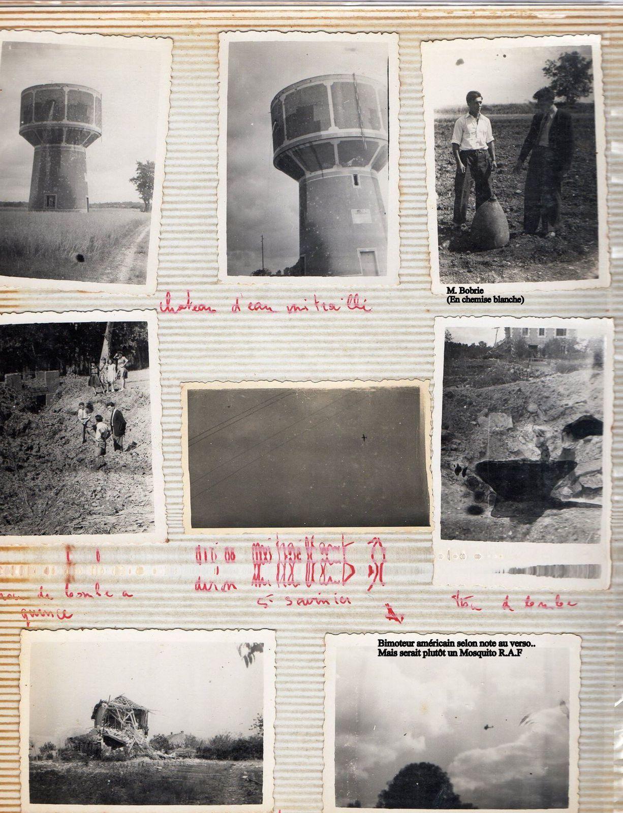On peut remarquer tous les militaires allemands pris à la sauvète. Bien sûr après le bombardement de Saintes cet homme, Jacques B..... (âgé de 19 ans) n'avait pas manqué de faire des photos de la gare SNCF de Saintes qui venait de subir le terrible bombardement du 24 juin 1944.