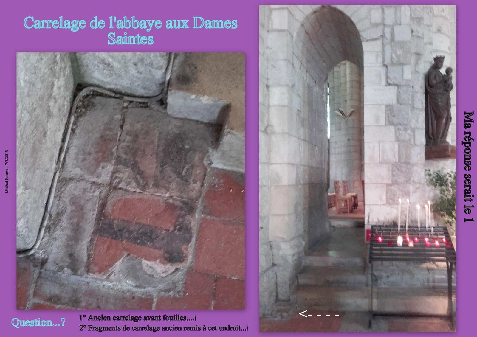 7 - Votre agenda - Solenn pélerin de St Jacques à St Eutrope.  Abbaye et un carreau mystérieux.