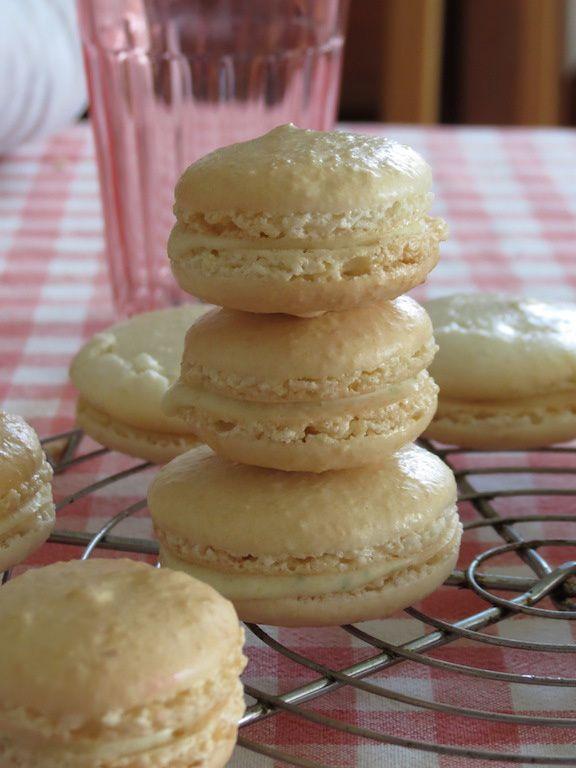 Macarons coco framboise