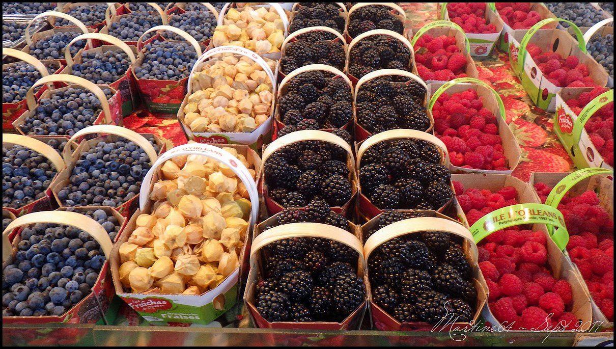 Framboises, fraises, mûres, bleuets (myrtilles) ....