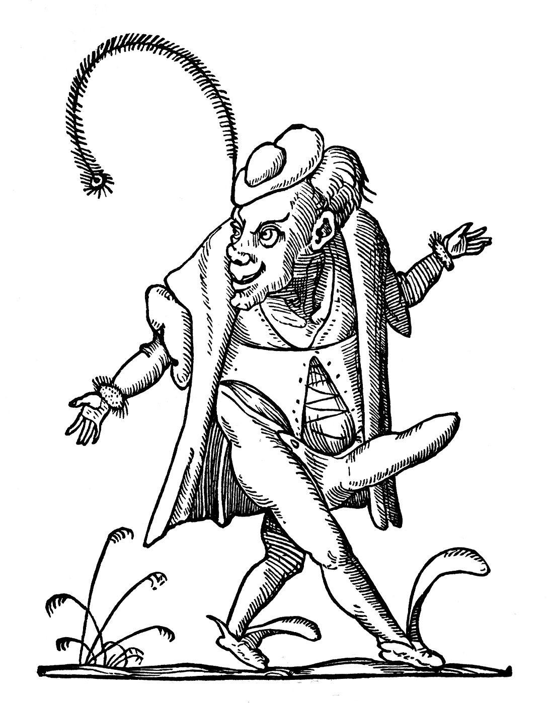 le bandeau du site des Cahiers de l'Égaré; l'accroche du site: ayez peur du théâtre, il parle de vous et du monde; gravure attribuée à Rabelais pour illustrer son éloge du gai savoir
