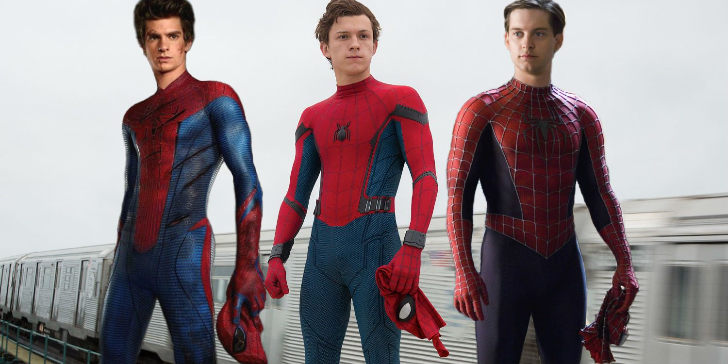 Andrew Garfiled - Tom Holland - Tobey McGuire