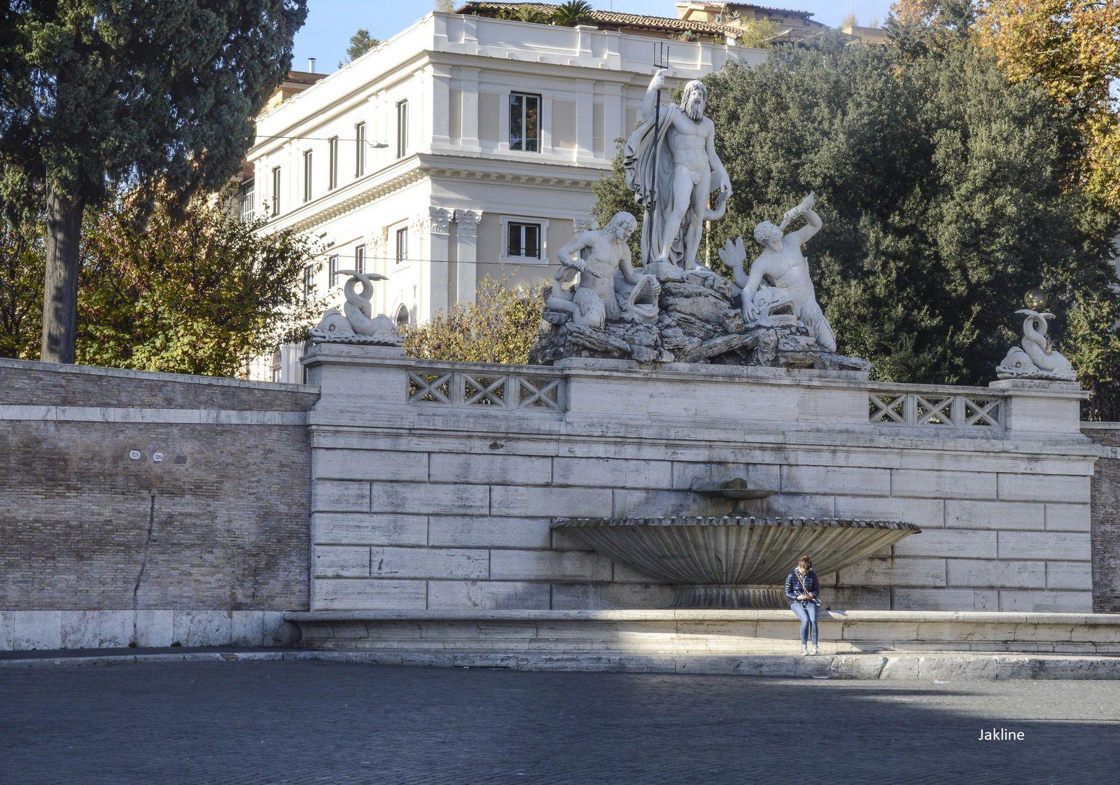 La Piazza del Popolo vue d'en haut....