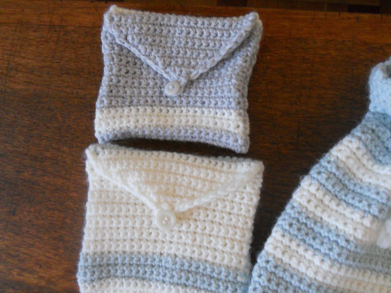 Déclinaison de pochons crochet et tricot