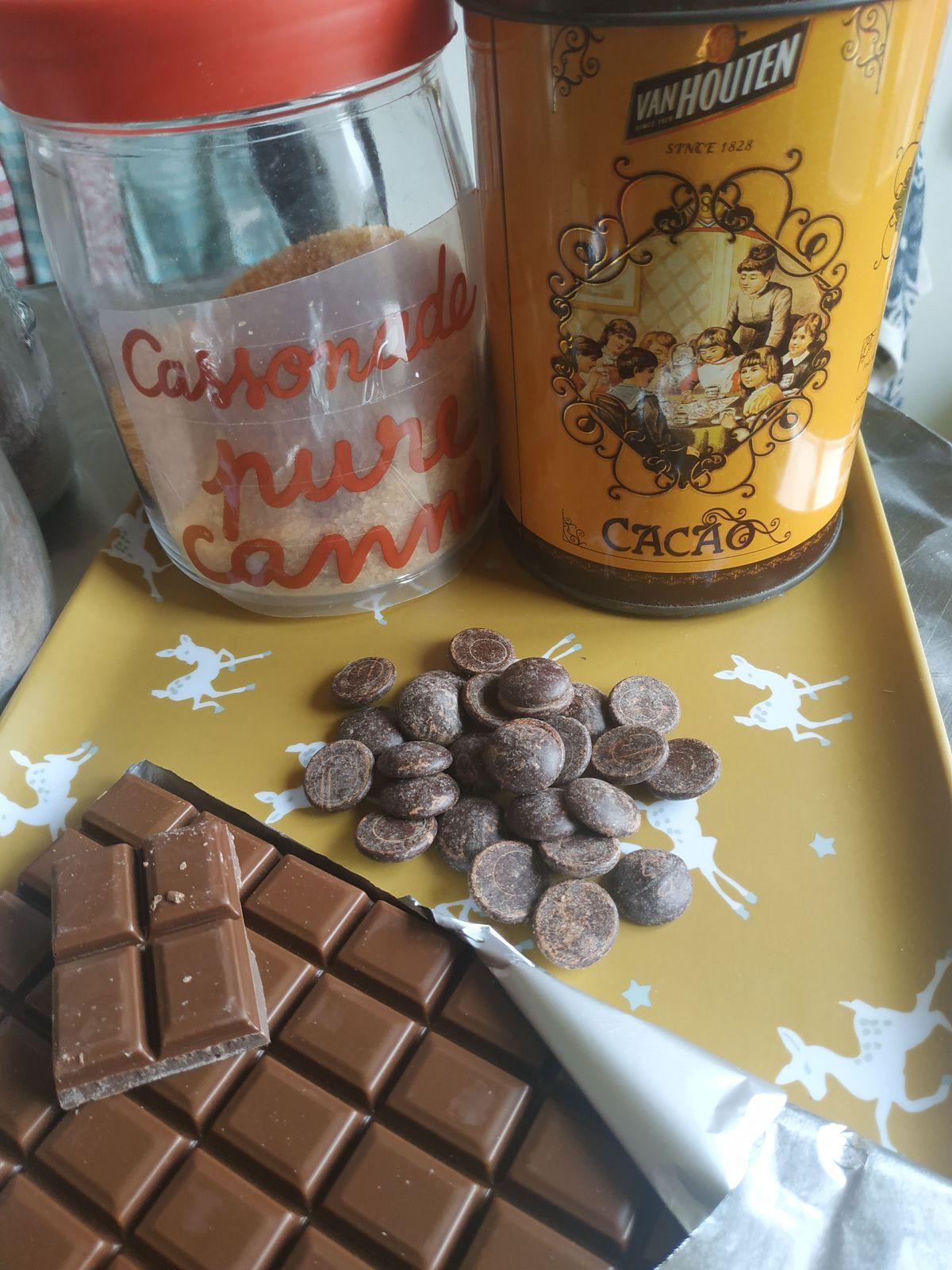 Préparer Noël,  l'avent Jour 9,  Chocolat en poudre maison