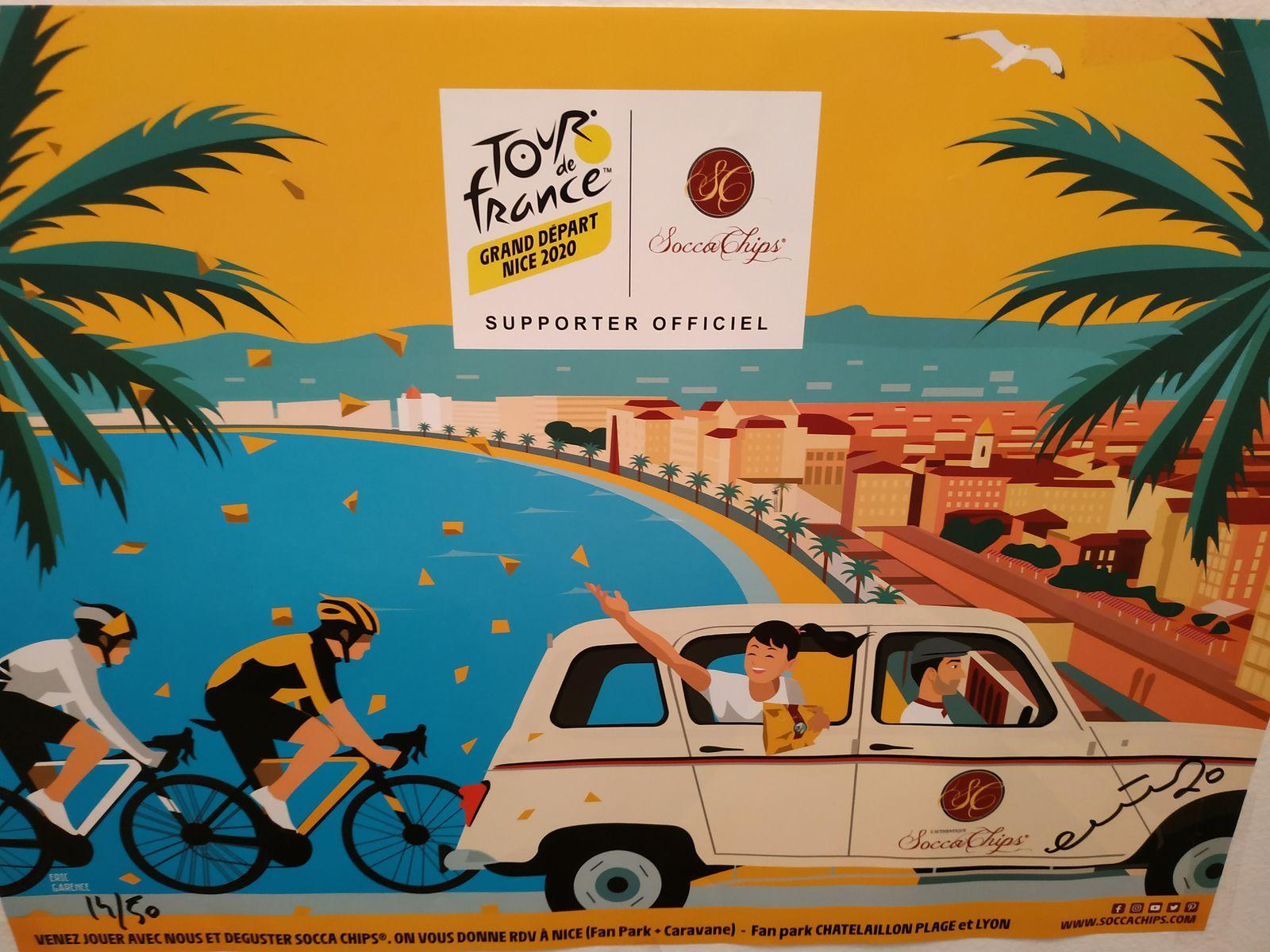 Affichette Tour de France 2020 à Nice