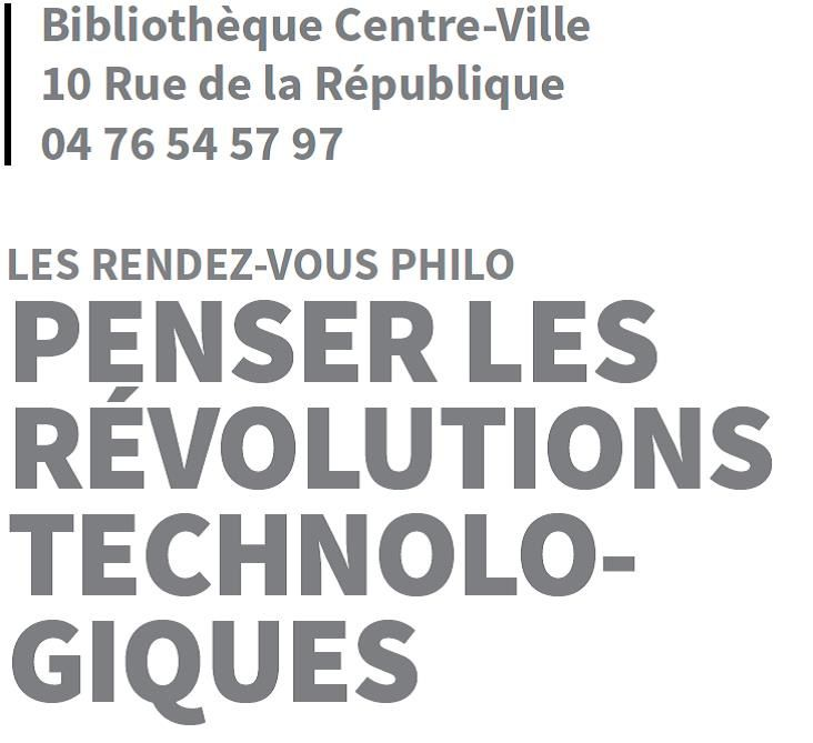 Cours public - Penser les révolutions technologiques