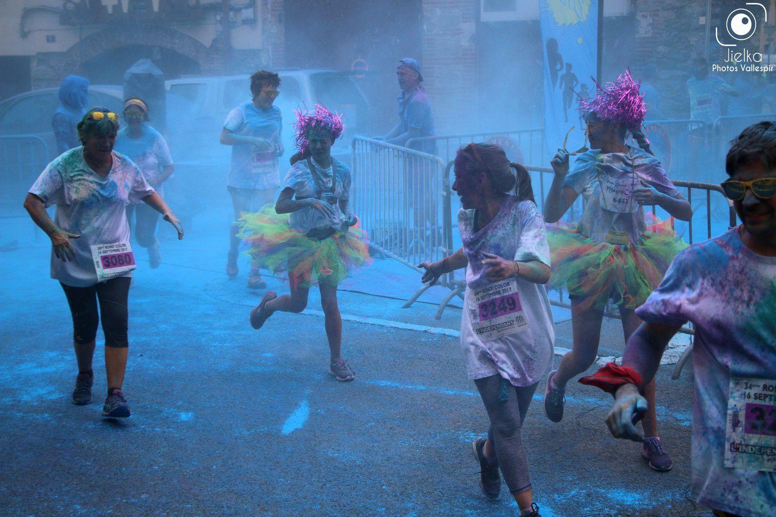 A chaque kilomètre de la course, une couleur différente.