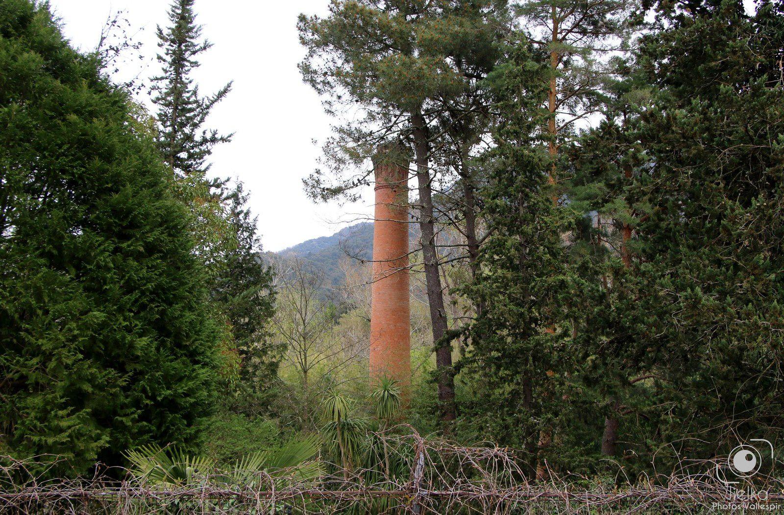 Les bâtiment aujourd'hui et la cheminée de la teinturerie.