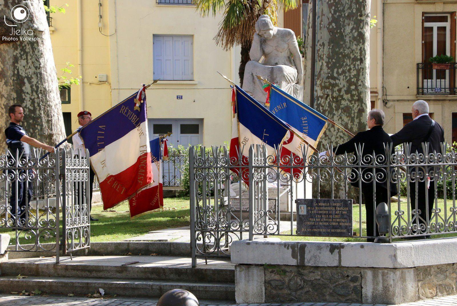 CÉRET, COMMÉMORATION DE LA FIN DE LA GUERRE D'INDOCHINE