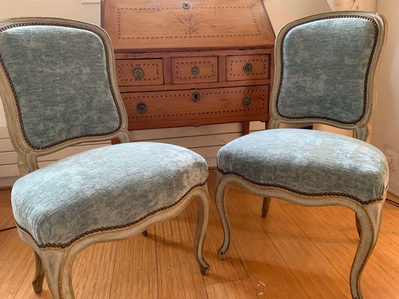 Magnifiques chaises Louis XV