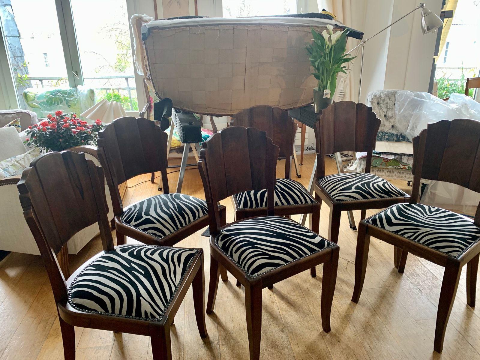 Magnifiques chaises art déco