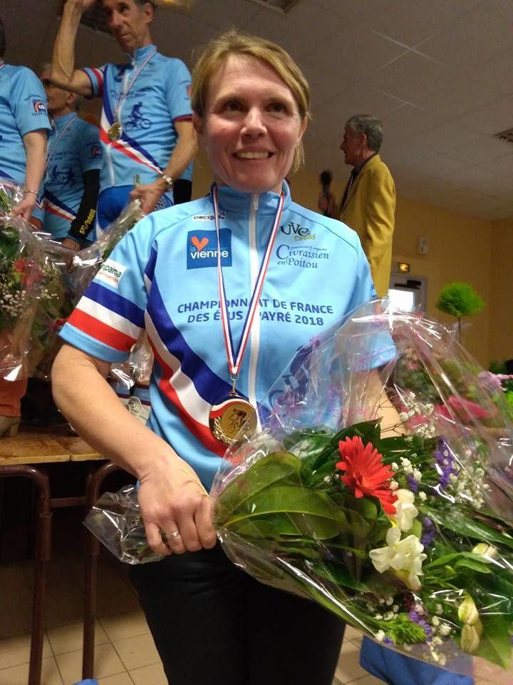 ARTICLE DE PRESSE : La conseillère municipale ( Sandra Léaud ) de Maillé est devenue championne de France de VTT des élues