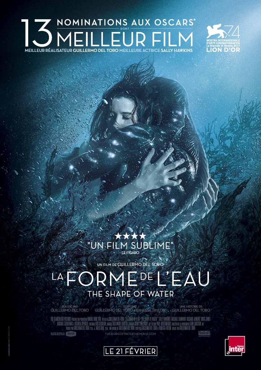 La forme de l'eau - the shape of water - affiche - Guillermo del Toro