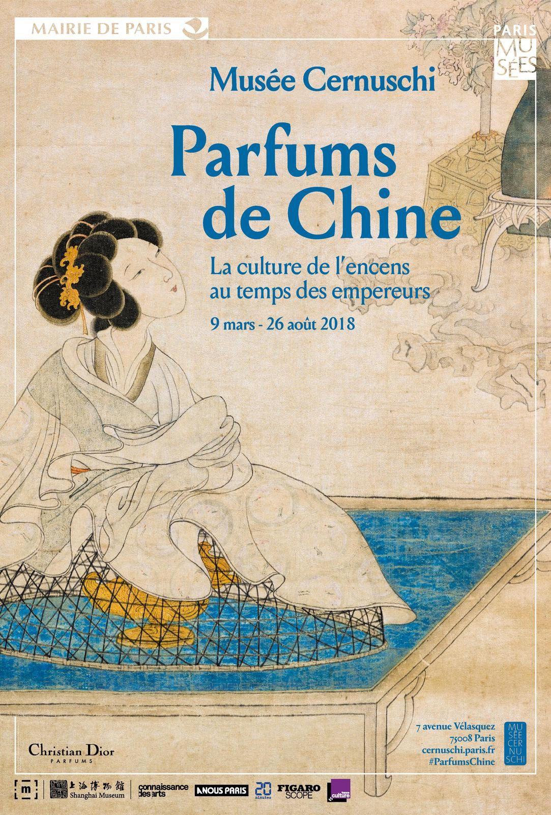 Exposition - Parfums de Chine - La culture de l'encens au temps des empereurs - Musée Cernuschi Paris - Affiche