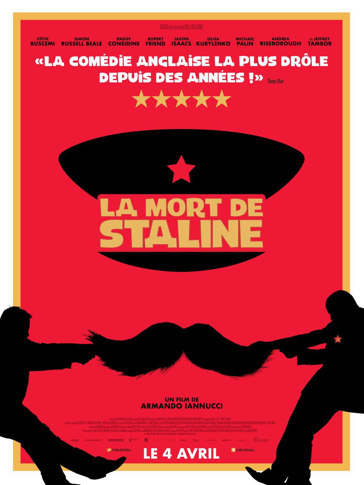 """Affiche film """"La Mort de Staline"""" - avis cinéma :  la mort de Staline"""