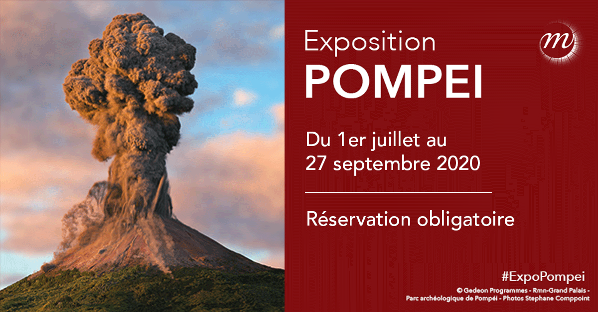 exposition Pompei grand palais Paris - Affiche