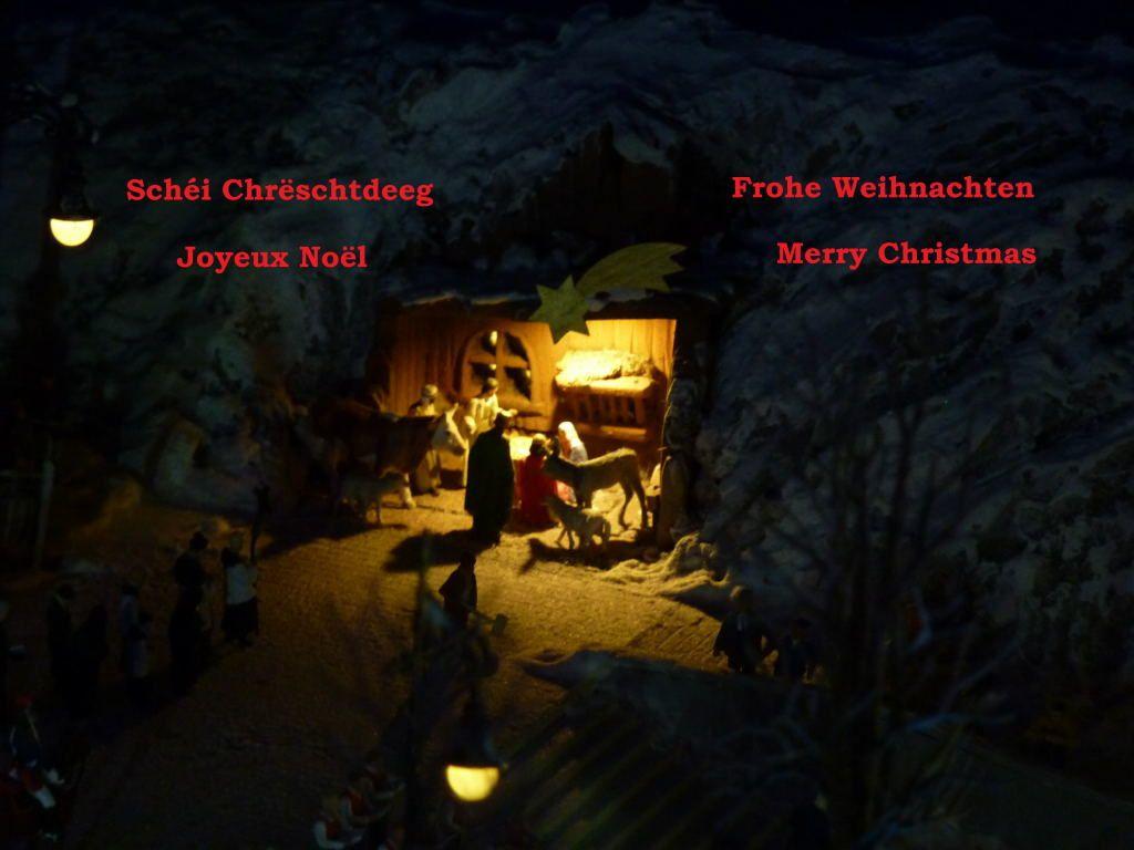 La créche au village de Noël de Miniworld à Lyon.