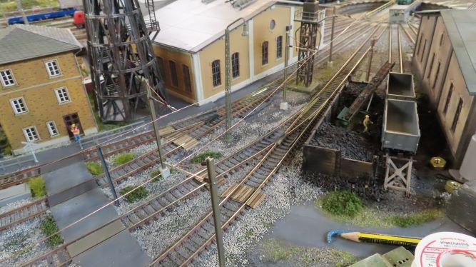 Faisceau pour locos électriques au dépôt