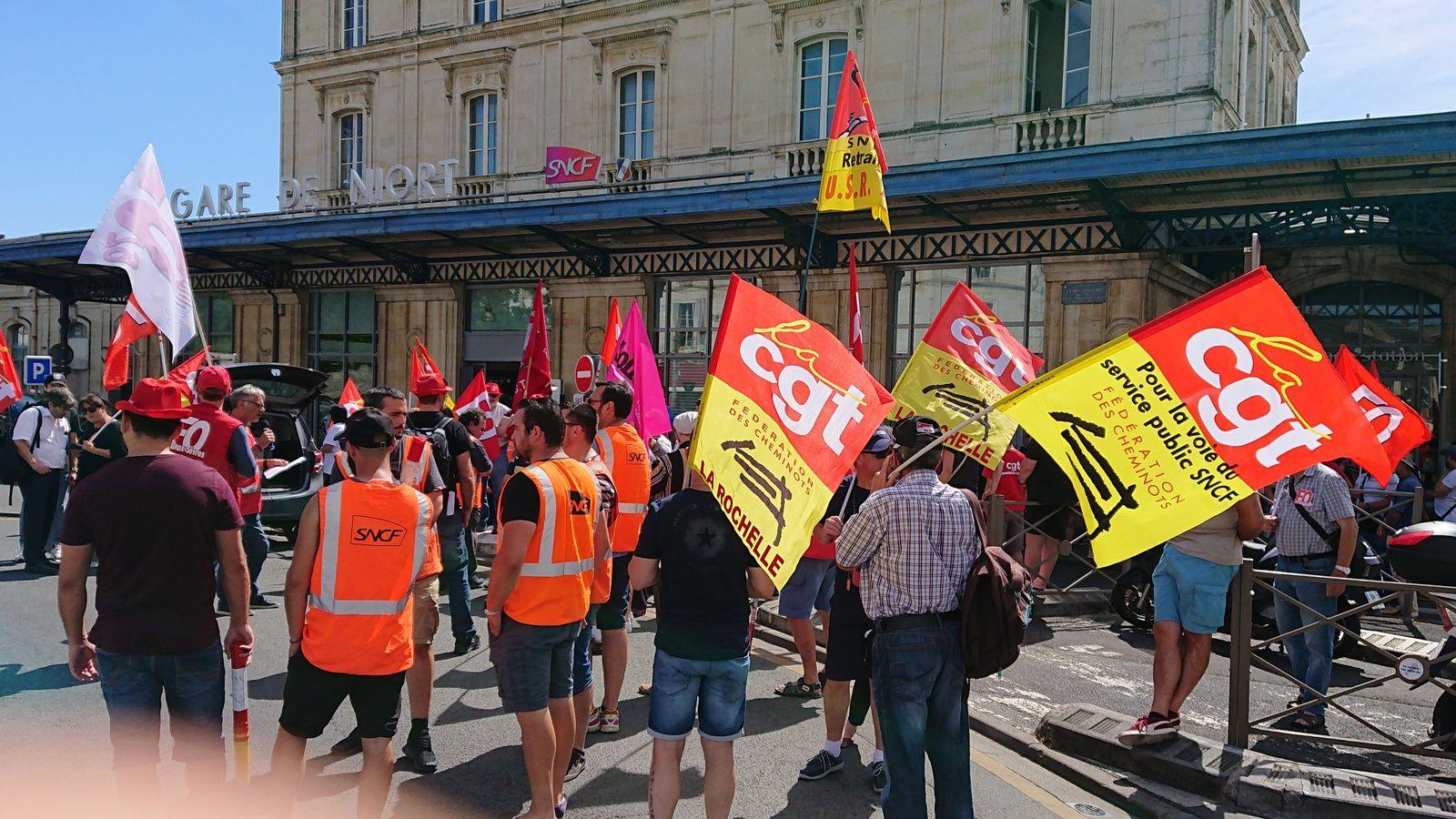 Rassemblement le 27 juin à Niort pour dire NON à la casse du service public de la SNCF