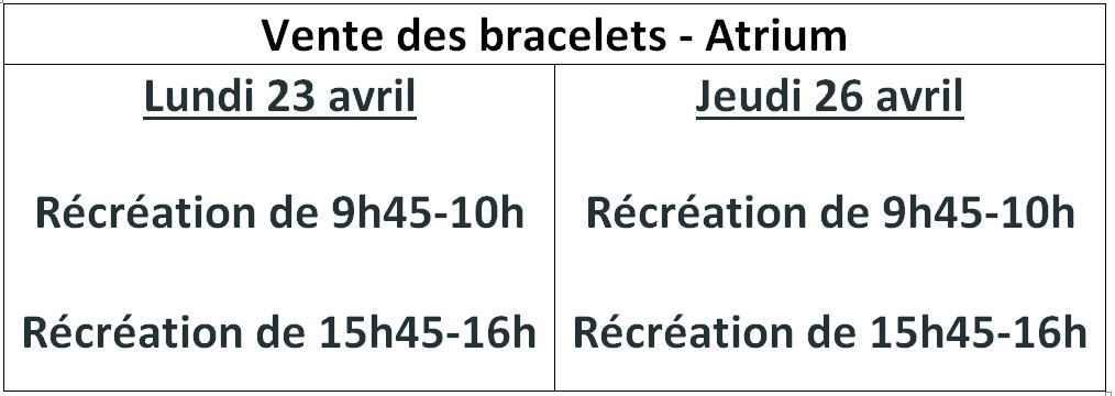 Un bracelet solidaire made in Jacob !