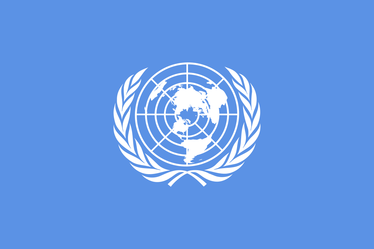 Drapeau de l'ONU (1ère  version - 1945-1946)