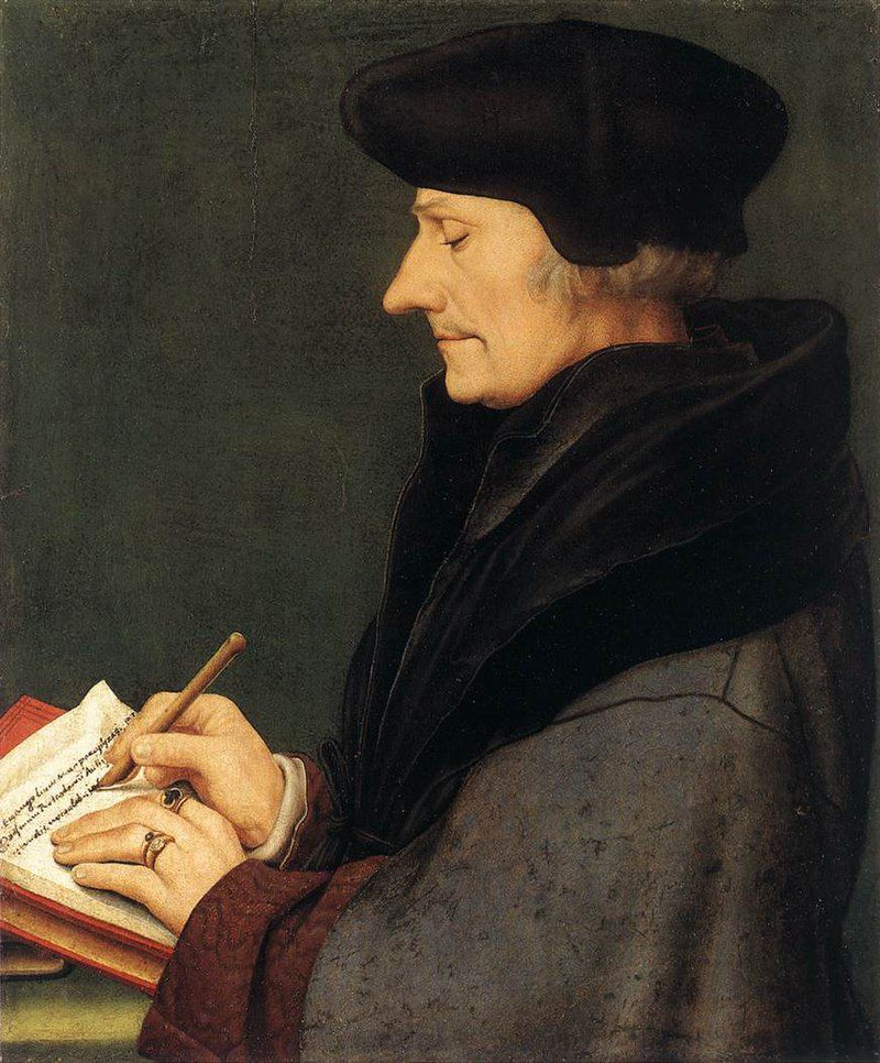 Desiderius Erasmus, peinture de Hans Holbein le Jeune.