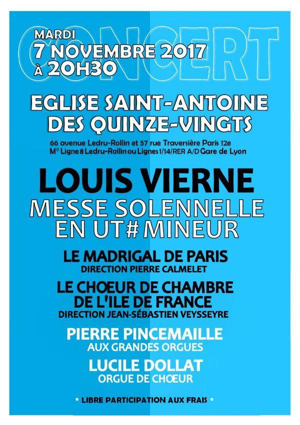 Concert en l'Eglise Saint-Antoine des Quinze-Vingts