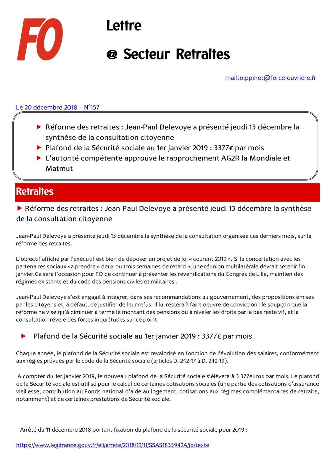 Plafond De La Securite Sociale Au 1er Janvier 2019 3 377 Par Mois