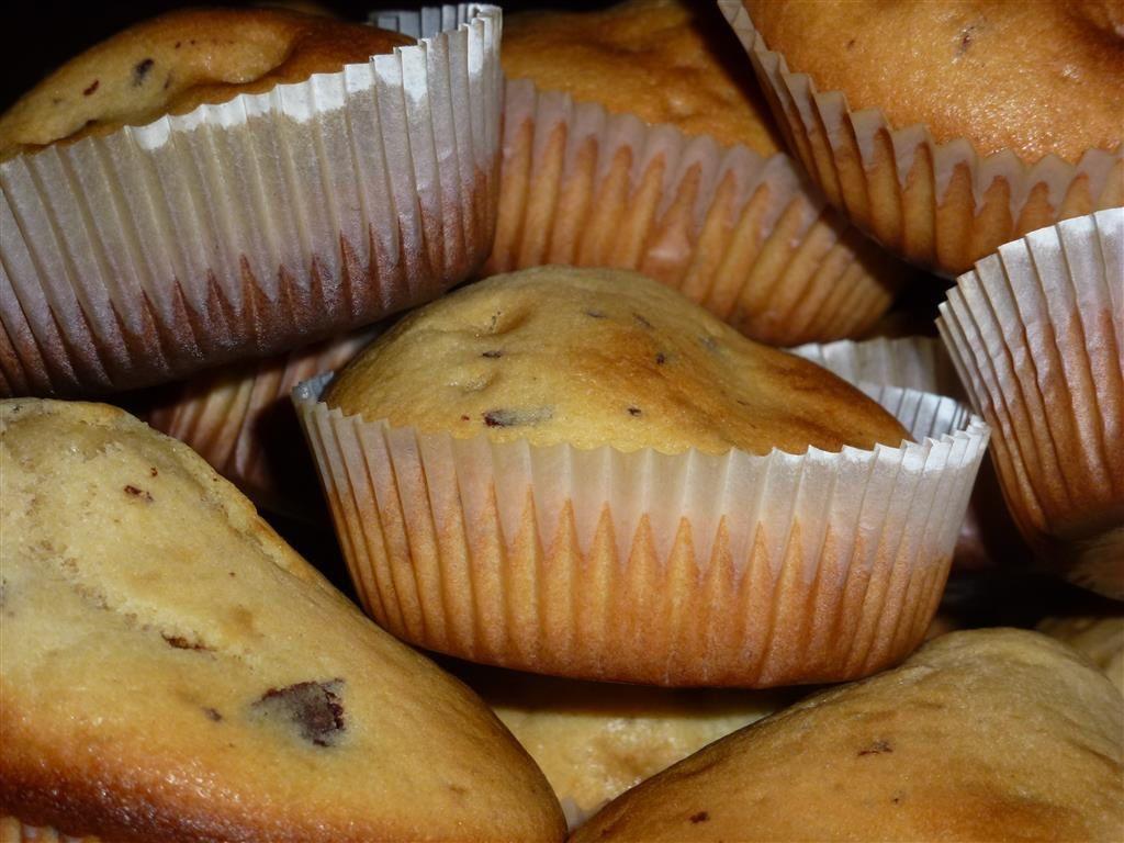Muffins aux pépites de chocolat noir PAS à PAS...
