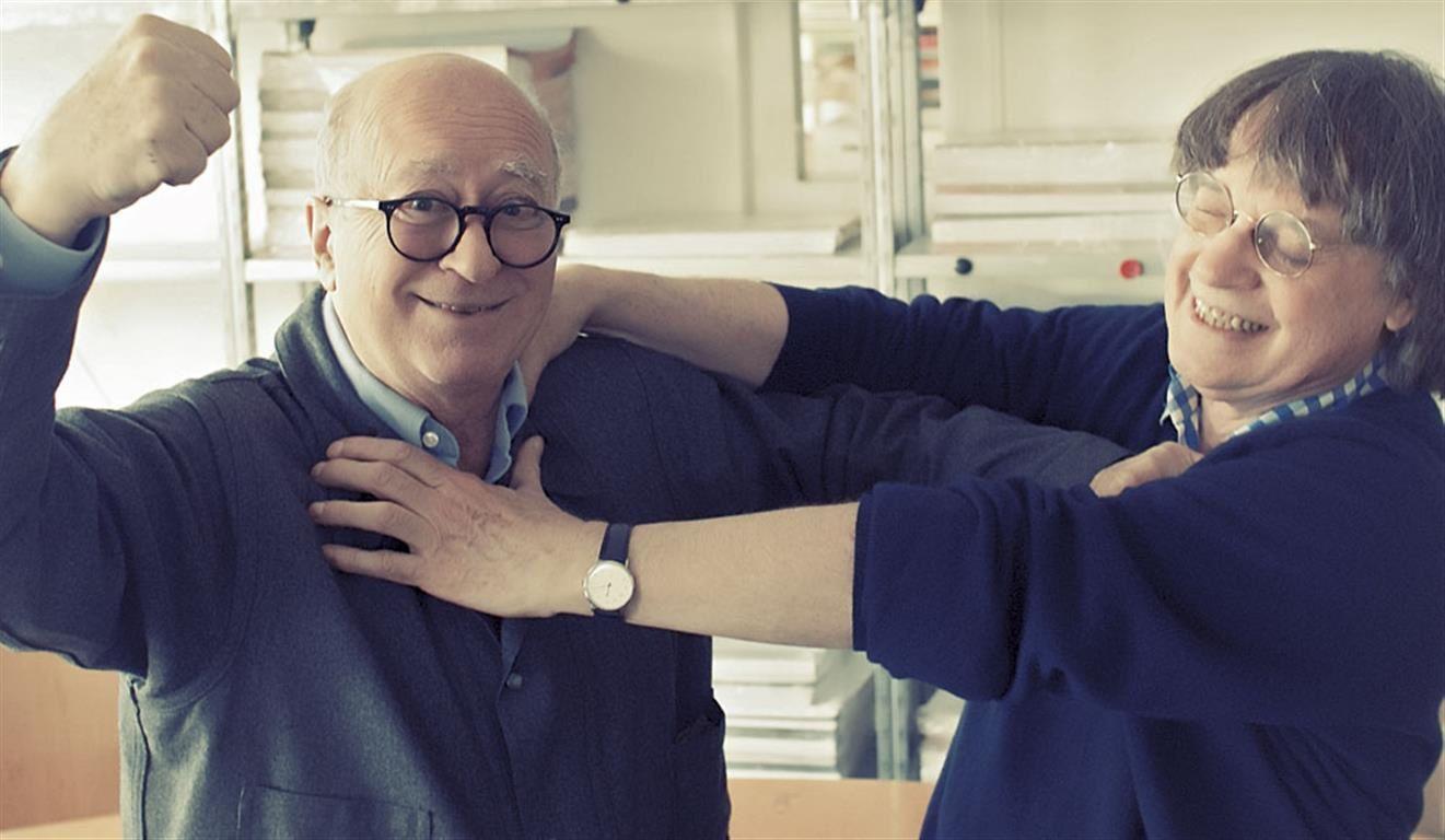 Wolinski (à gauche sur la photo) avec son ami de toujours Cabu (à droite) / Source Paris Match
