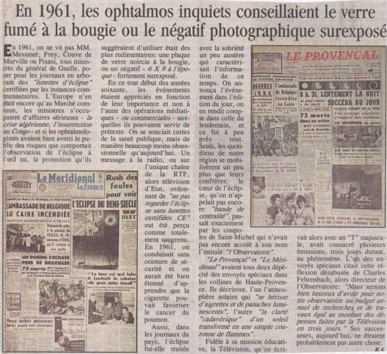Un journal datant de 1961 [source : http://xjubier.free.fr]