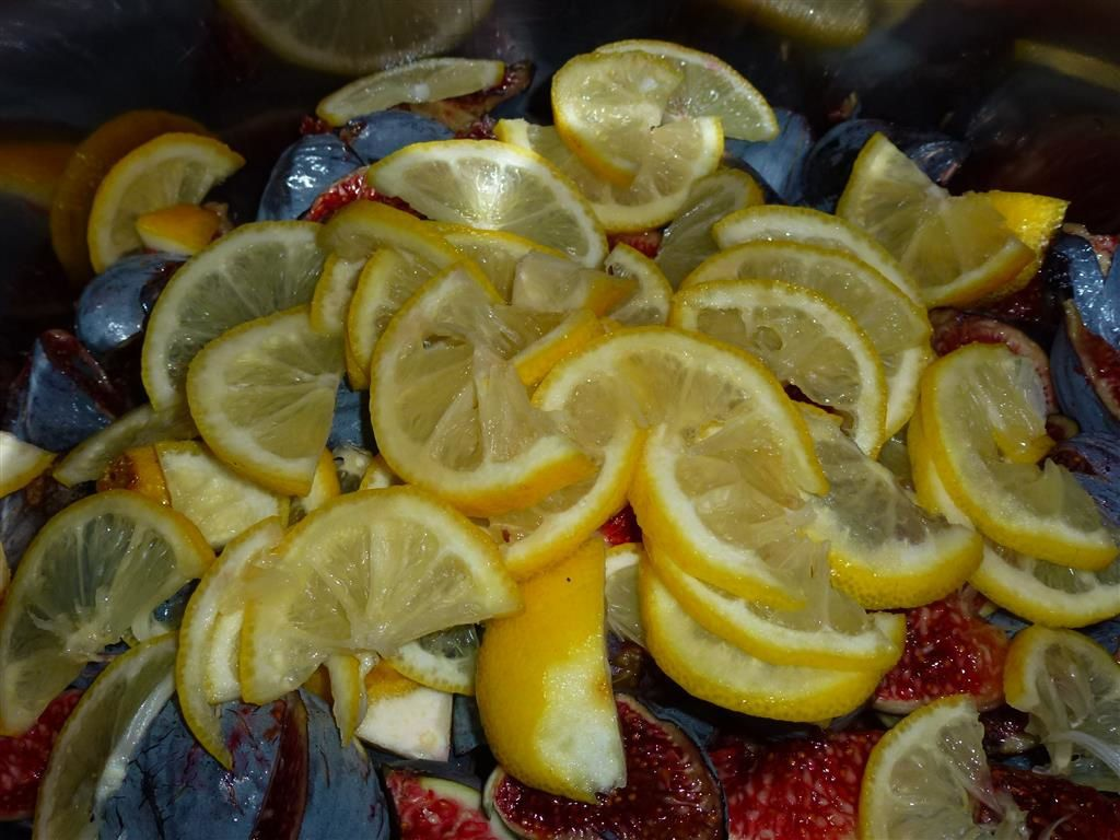 Confiture de figues au citron...