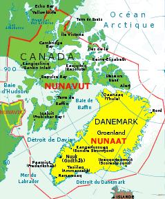 Les territoires autonomes des Inuits