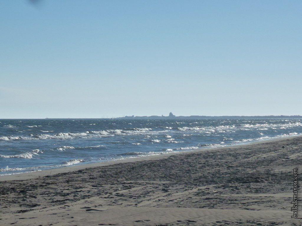 Une plage déserte...