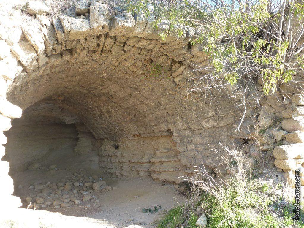 Une des caves voûtée d'une des habitations...C'est celle où tout le monde se prend en photo !