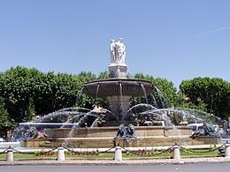 La fontaine de la Rotonde à Aix-en-Provence (photo wikipedia)