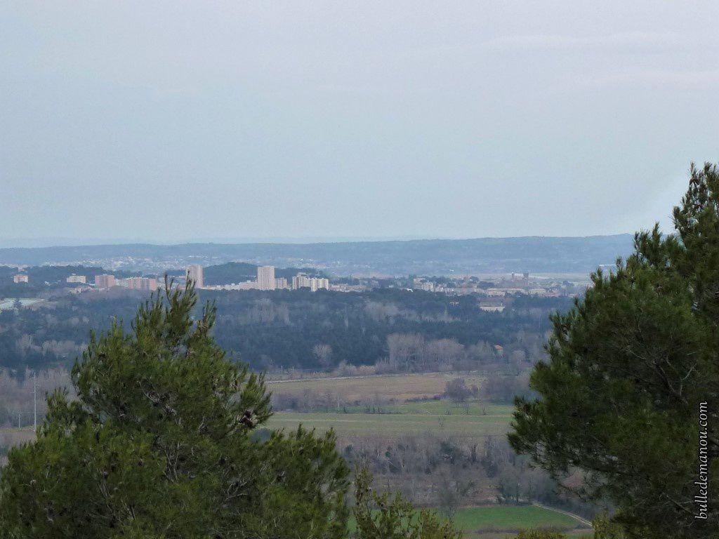 La vue sur la ville de Salon-de-Provence