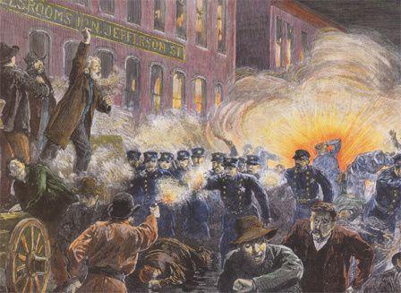La révolte des ouvriers de Chicago au XIXe siècle (photo : https://www.herodote.net)