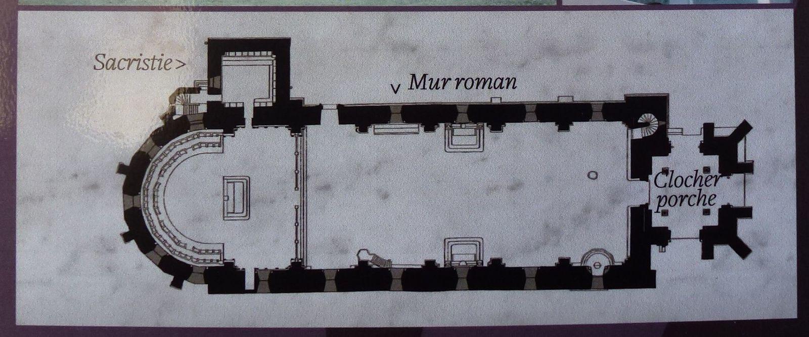 Plan actuel de la cathédrale