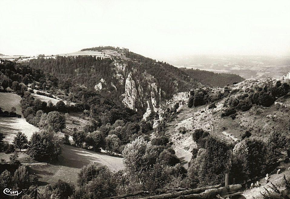 La vallée de Miramande (photo ancienne et panneau explicatif)