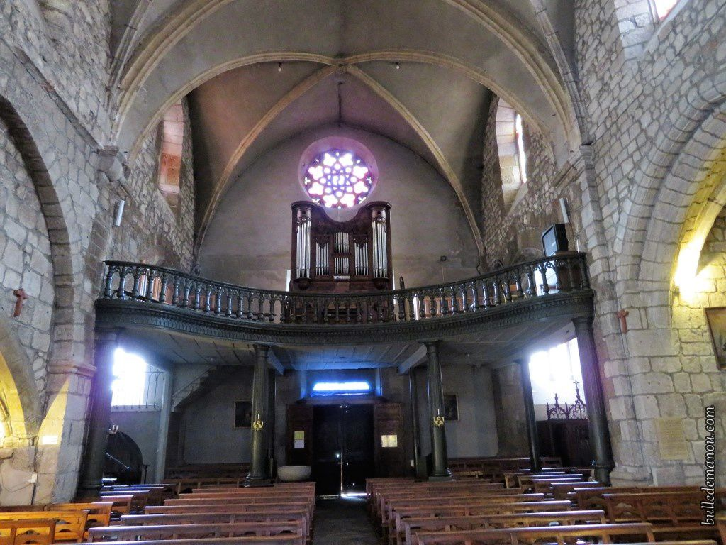 L'Eglise Saint-Médard et l'orgue de tribune