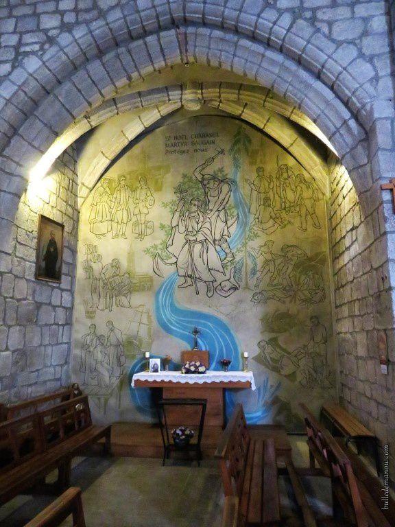 La chapelle consacrée à Saint-Noël Chabanel