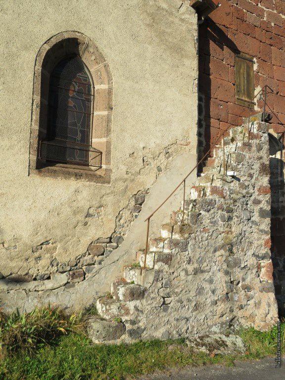 L'escalier qui permet monter au clocher