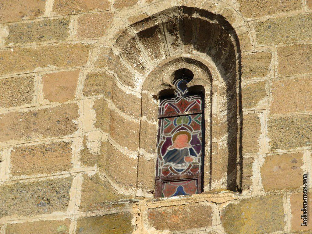 Les vitraux de la façade...en détails et de bas en haut