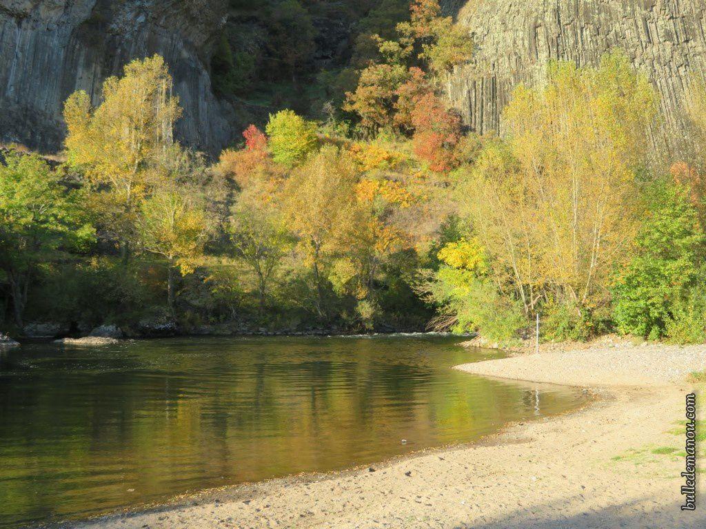 La plage de Prades cet automne à quelques jours d'écart...