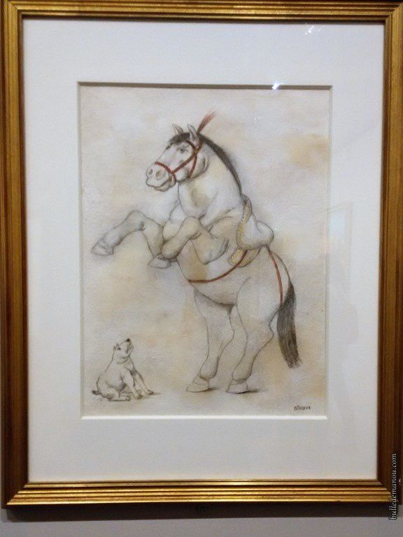 """Pierrot"" et ""Cheval et chien""/ Fernando Botero"