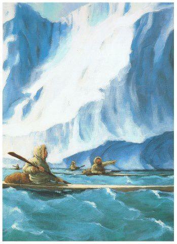Les chasseurs Inuits découvrent des bateaux étrangers