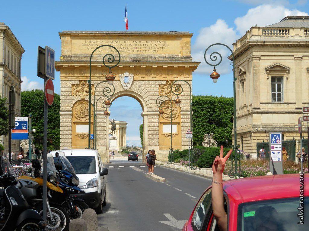 L'Arc de Triomphe du Peyrou à Montpellier