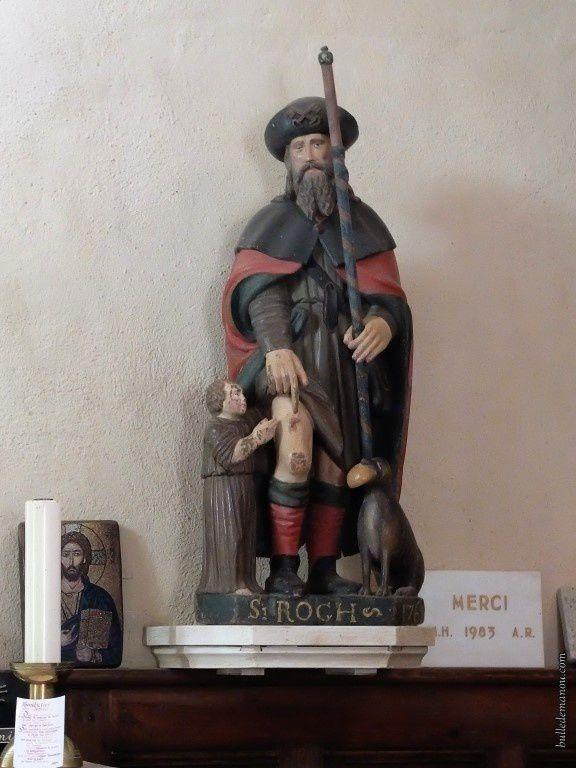 La statue de Saint-Roch